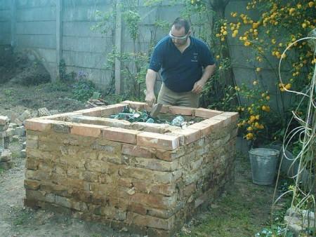 Kemence építés házilag tervrajz